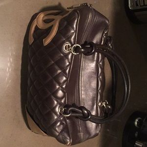 Closet clear Chanel ligne cambon bowling bag